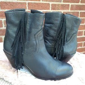 Sam Edelman Fringe Ankle Booties Boots Blogger